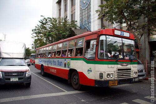 public bus in Bangkok