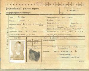Удостоверение личности военнопленного Байерли.