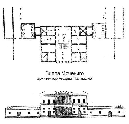 Вилла Мочениго, архитектор Андреа Палладио, чертежи