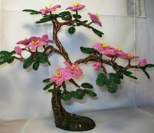 Цветущий бонсай. размеры 20х35
