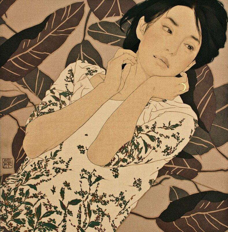Японский художник Ikenaga Yasunari
