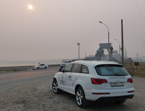 Дамба в Новосибирске через Обь