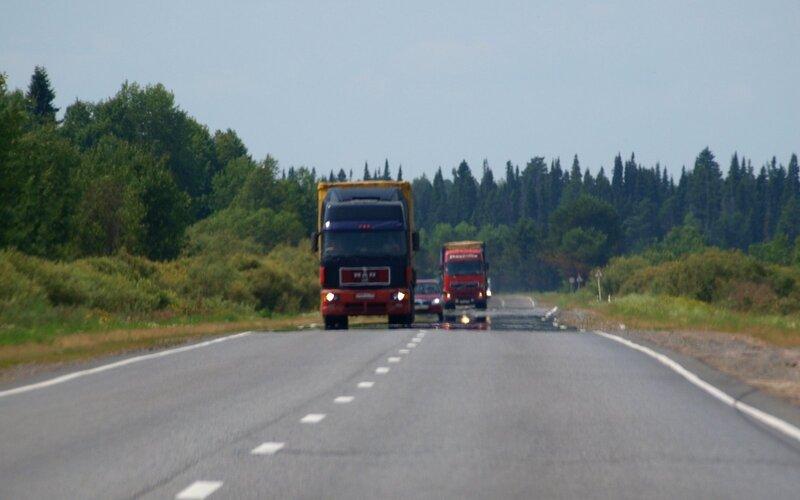 миражи на дороге