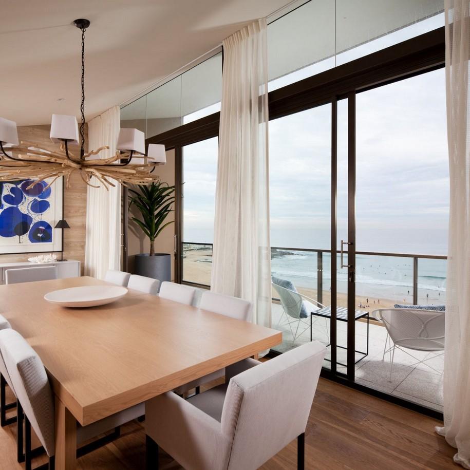 Интерьер пентхауса с видом на море в Ньюкасл, Австралия