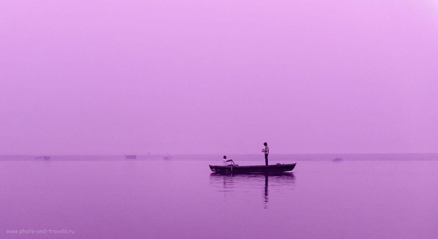 Фотография 2. Рассвет над священной рекой Ганг. Отзывы туристов о самостоятельной поездке в Индию. 1/125, 2.8, 6400, 70.