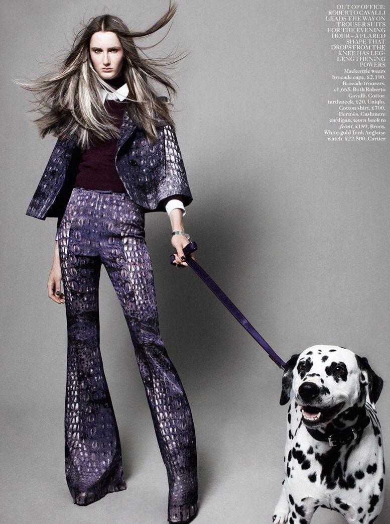 Best In Show - Mackenzie Drazan / Маккензи Дразан, фотограф Daniel Jackson в журнале Vogue UK, август 2012