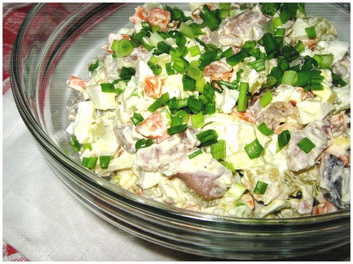 салат с отварным картофелем и сельдью фото рецепт