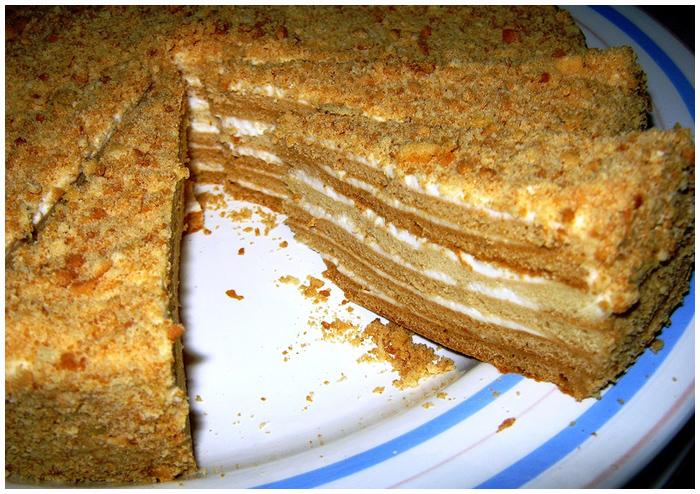 Быстрый рецепт торта с медом с фото