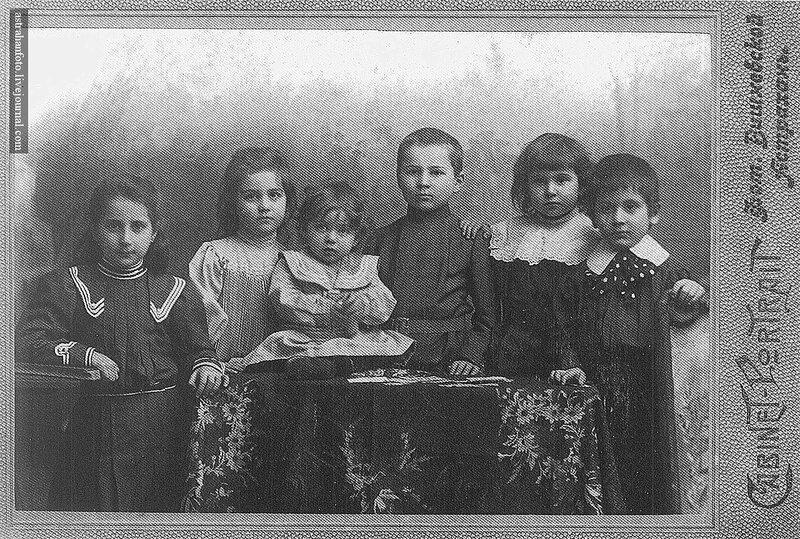А.Н. Вишневская. Групповой детский портрет. 1900-е годы.
