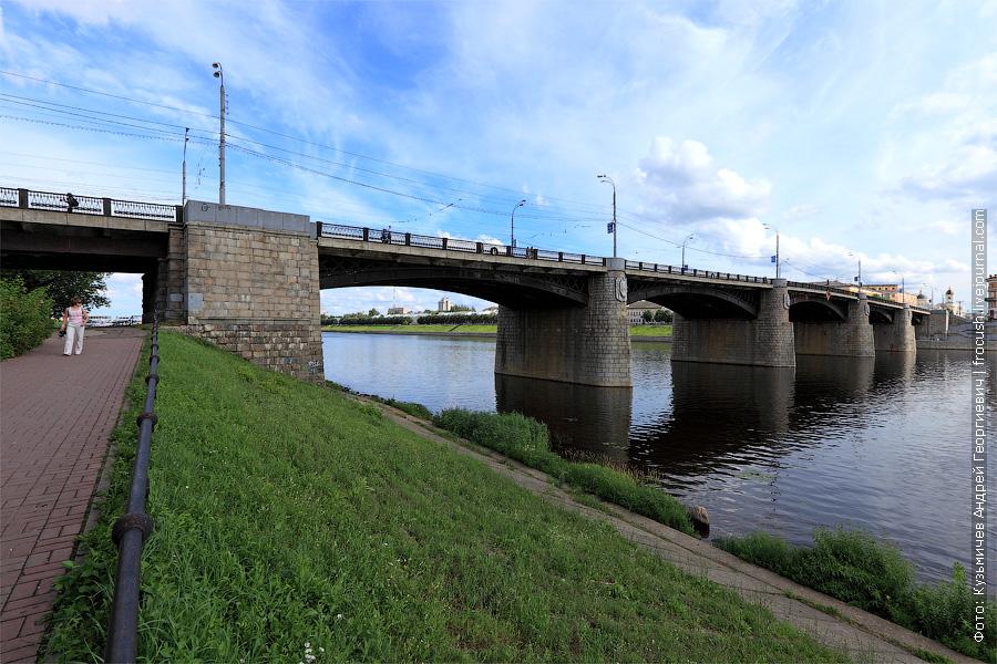 Нововолжский мост через Волгу в Твери