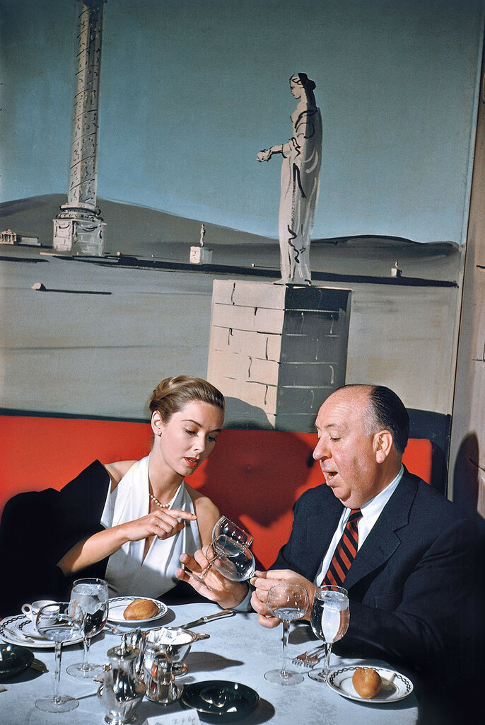 Alfred Hitchcock and Vera Miles. New York City, 1957.jpg