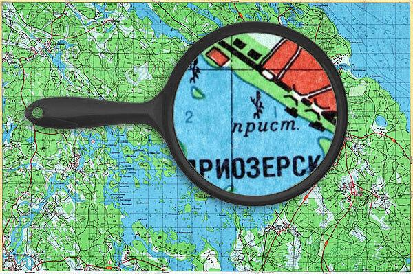 озеро Вуокса - карта глубин