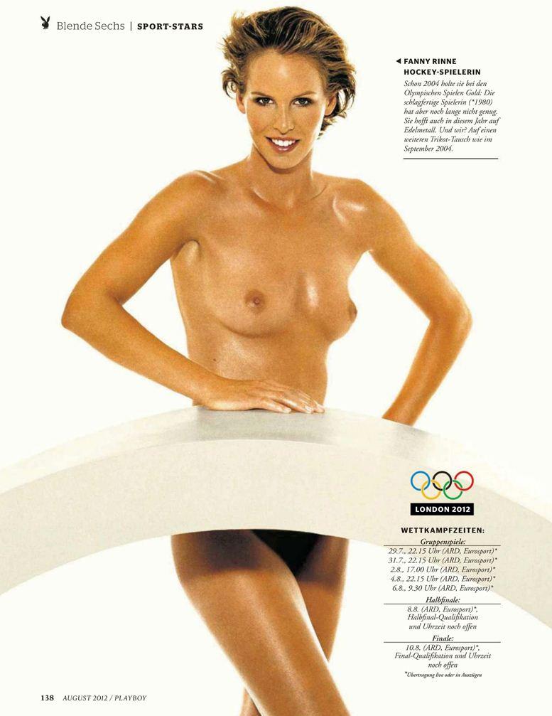 Playboy Germany, август 2012 / Fanny Rinne / Фанни Ринне - хоккей на траве