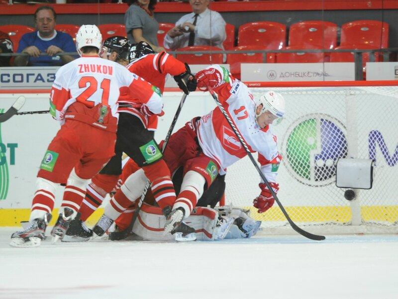 «Донбасс» vs «Спартак» 0:1 Б чемпионат КХЛ 2012-2013 (Фото)