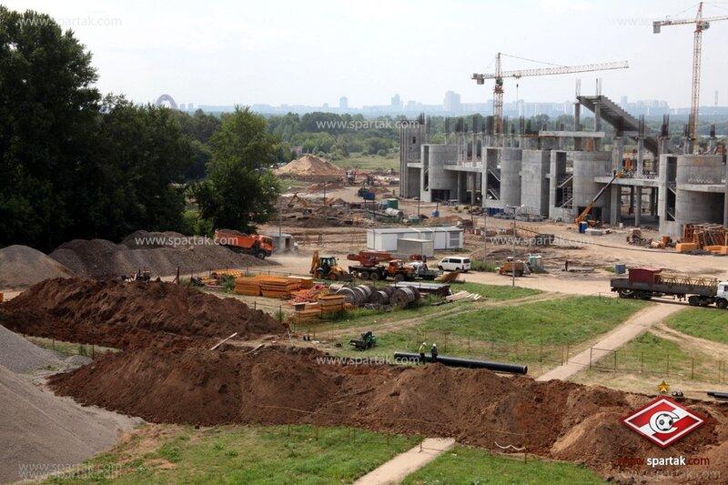 Строительство стадиона «Спартак» июль 2012 (Фото)