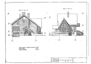 Проект одноэтажного дома с мансардой.
