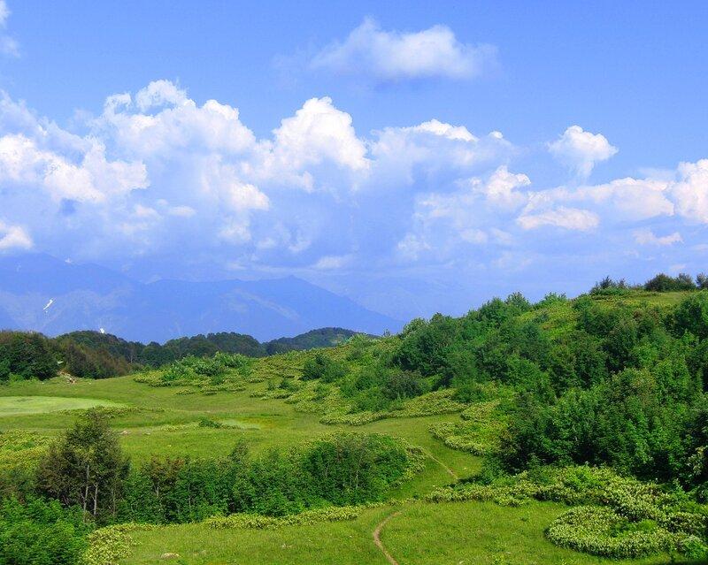 горные пейзажи красной поляны