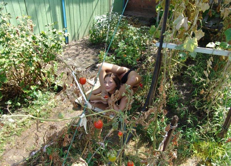 Жена раком в огороде фото172