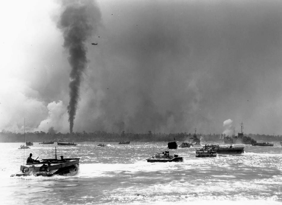 WWII U.S. INVASION PELELIU