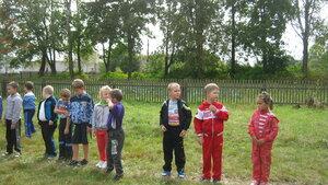 Рябчинская школа.16 сентября 2015 года. Легкоатлетический кросс. Самые младшие участники соревнования.