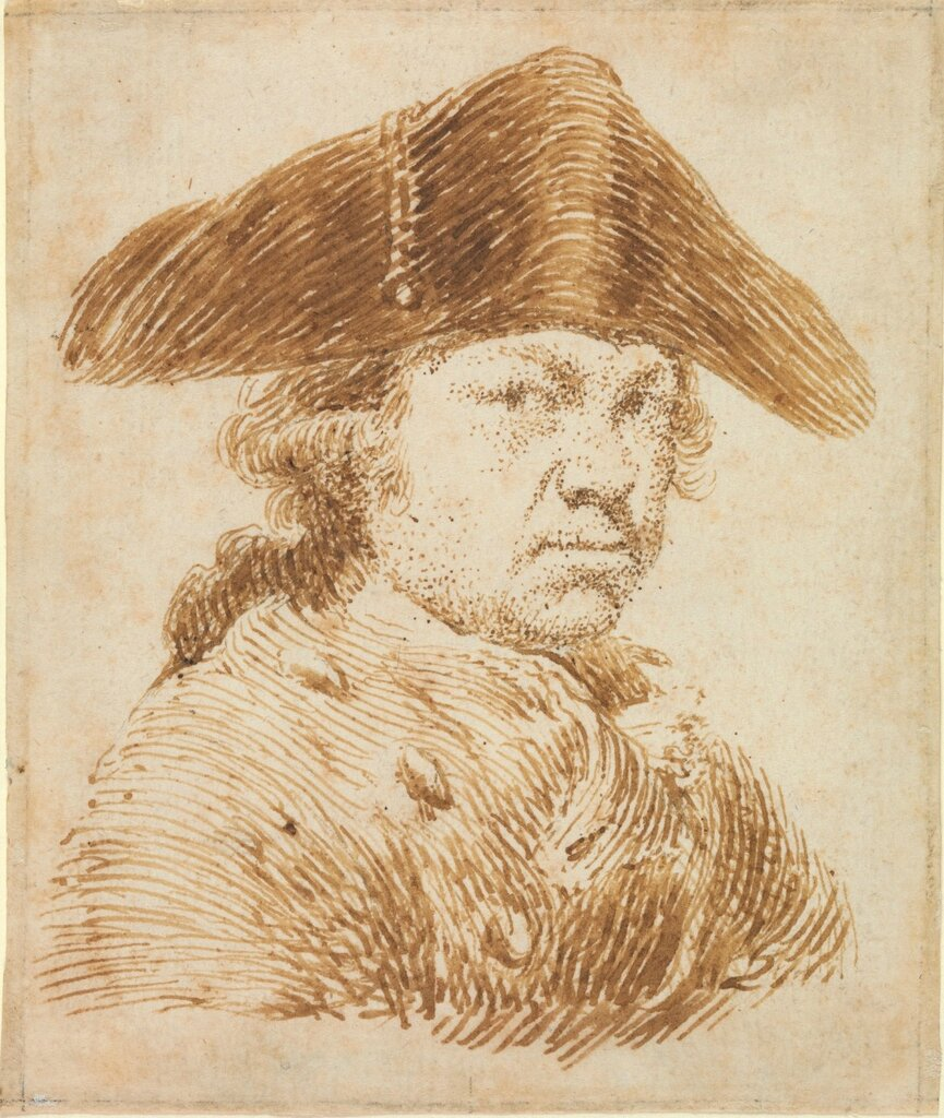 Self-Portrait in a Cocked Hat
