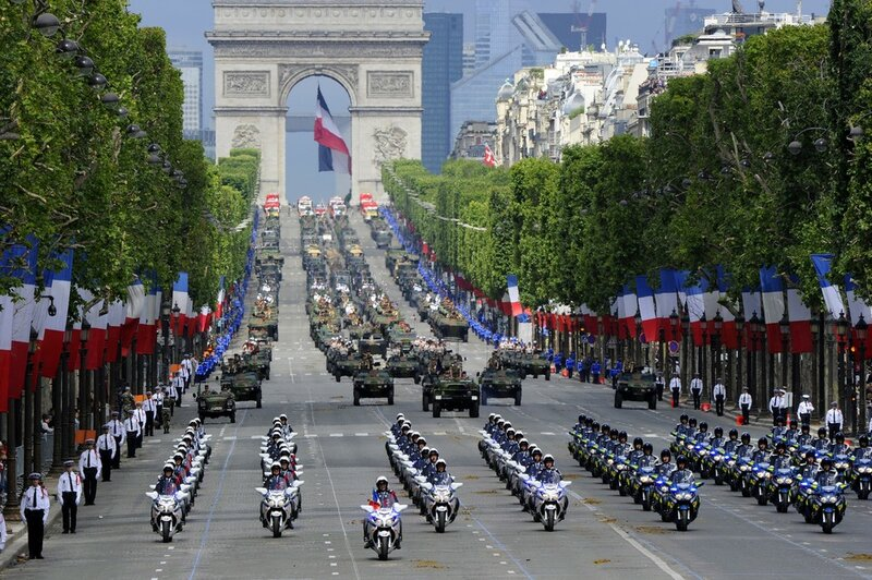 Motorcyclist squadron of French National