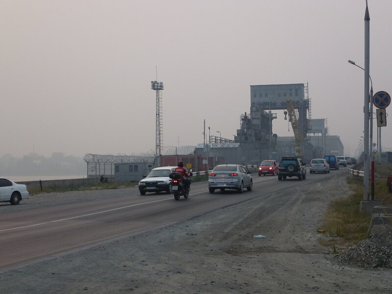 Новосибирск дамба через Обь