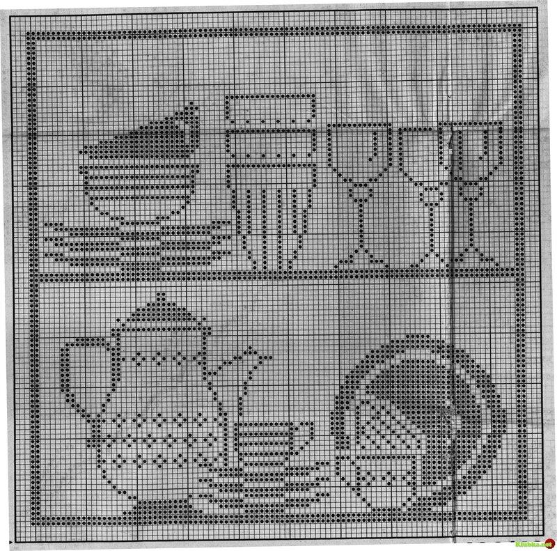 Схемы для филейного вязания.