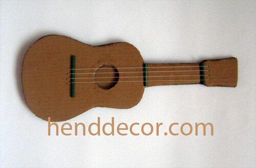 сделать гитару из картона для детей автомобильных железнодорожных грузоперевозок