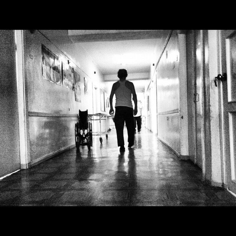 ч/б коридор