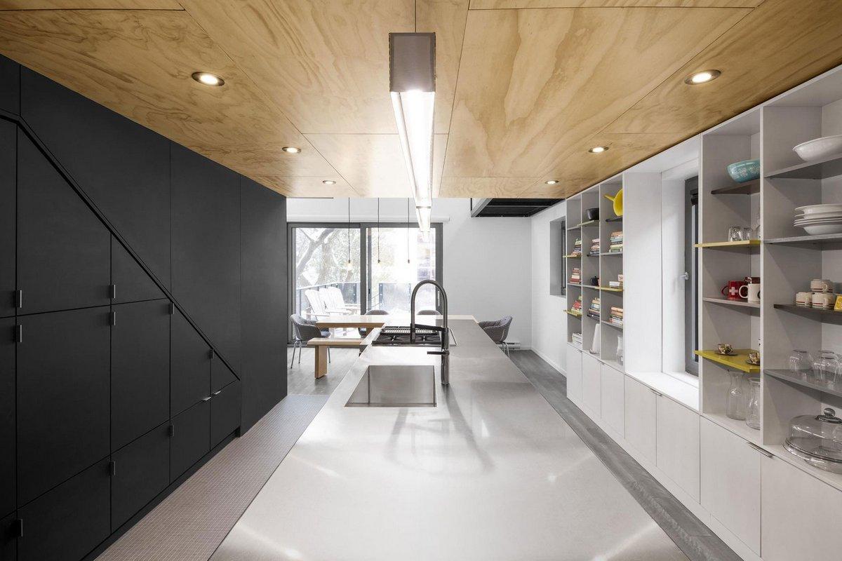 NatureHumaine, акробатические кольца домой, облицовка деревянными панелями, дома в Монреале, обзоры частных домов, проект частного дома, планировка дома