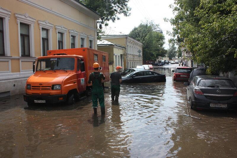 Пруд в Хохловском переулке.