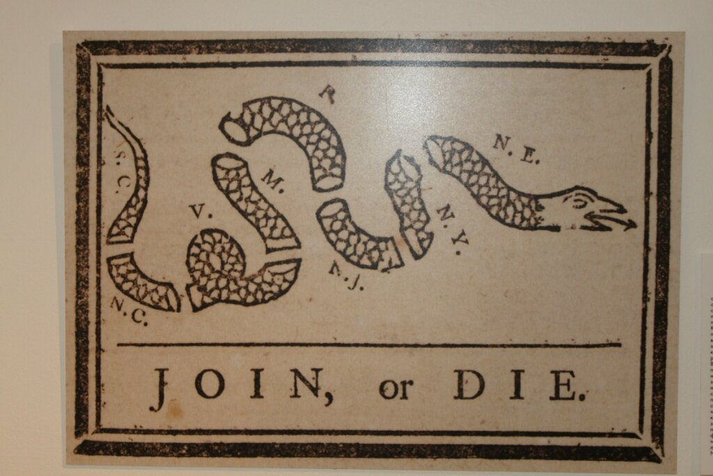 Первая карикатура США, опубликованная в прессе