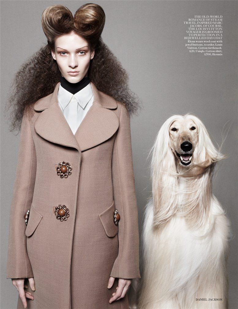 Best In Show - Elena Bartels / Елена Бартелс, фотограф Daniel Jackson в журнале Vogue UK, август 2012