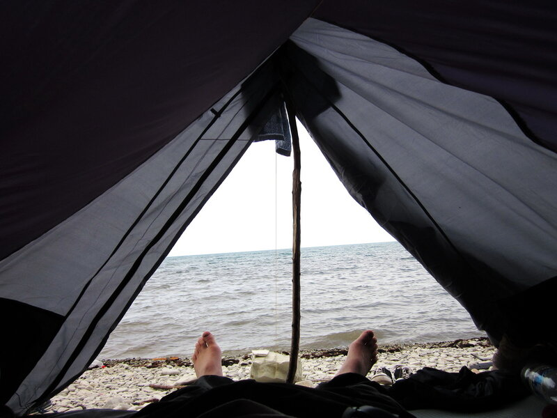 Вид на море из палатки