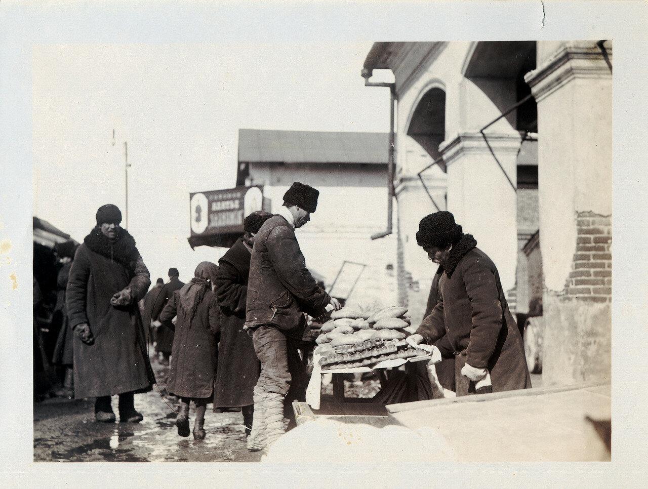 Центральный рынок, продажа хлеба.1912