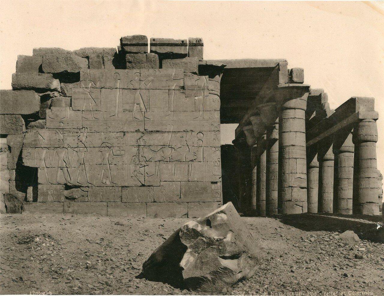 Фивы, Рамессеум. Рельеф и Колонны. 1900-е
