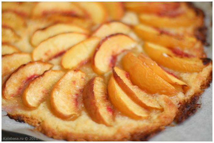 Рецепт пирога с персиками