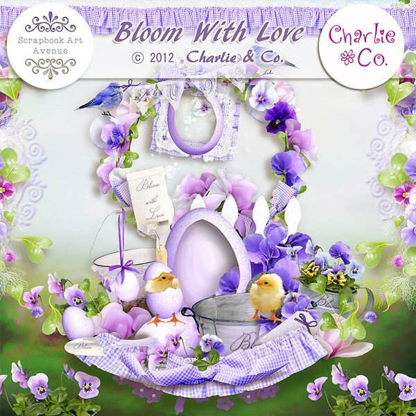 Scrap «Bloom with love»