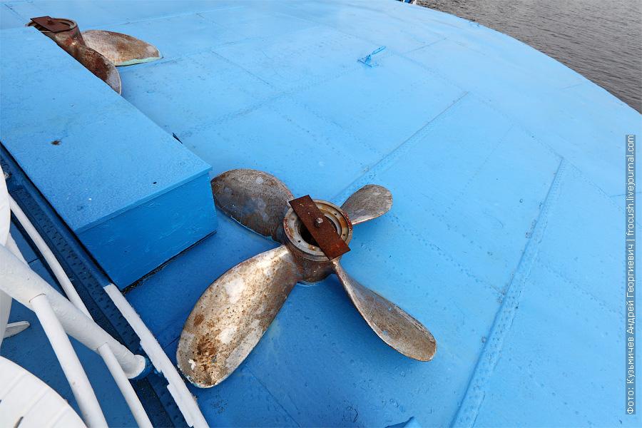 Запасные гребные винты на корме шлюпочной палубы. теплоход Белинский фото