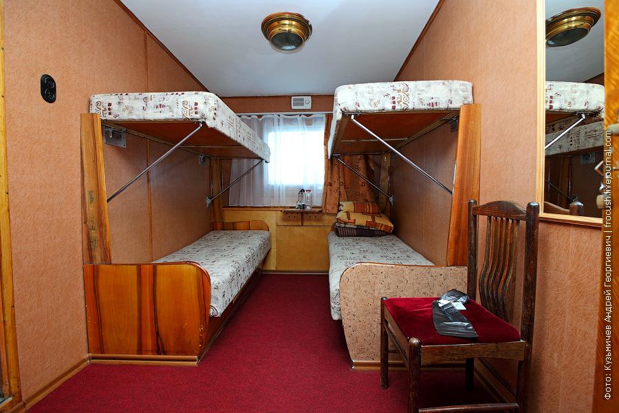 четырехместная двухъярусная каюта №35 теплоход Бородино