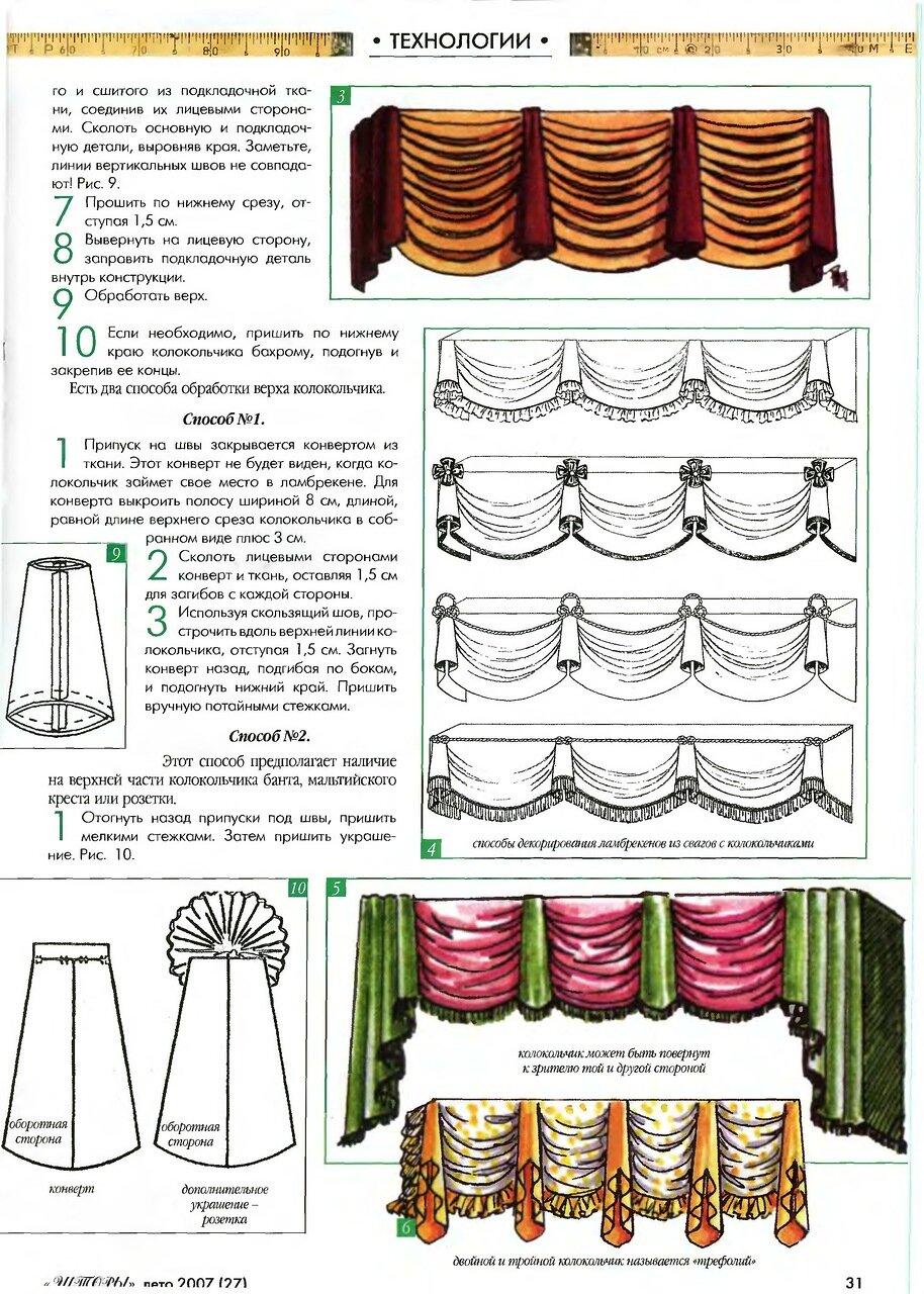 Как пошить шторы с ламбрекеном веер своими руками выкройки фото