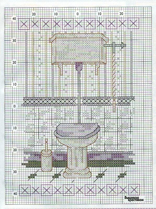 Вышивка ванны и туалета схема 134