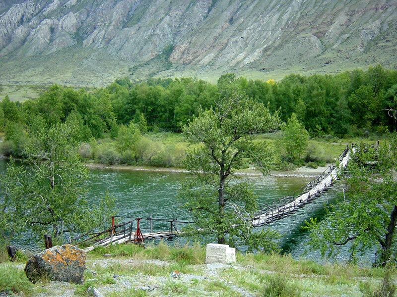 Висячий пешеходный мост через р.Чулышман