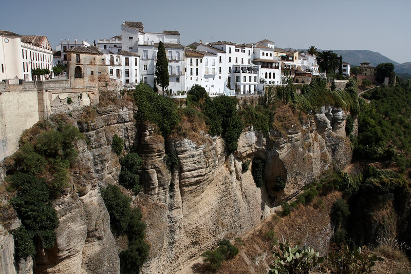 Прекрасный испанский город Ронда в Андалусии
