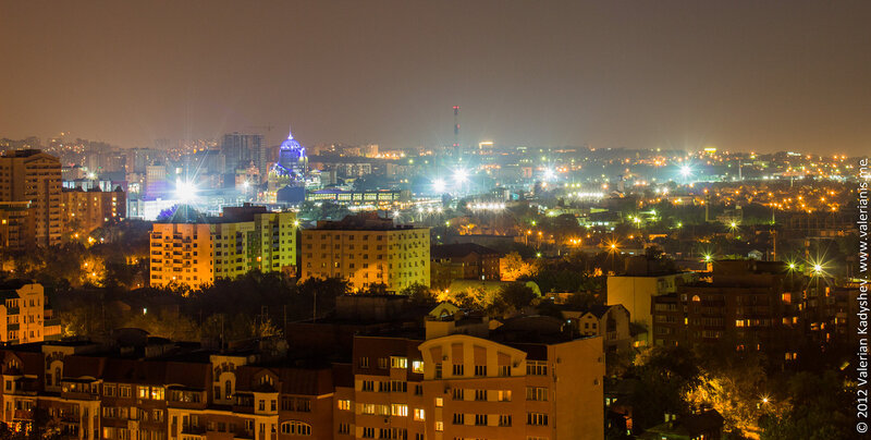 Bird's-Eye Views of Russian City Samara, at Night-Time