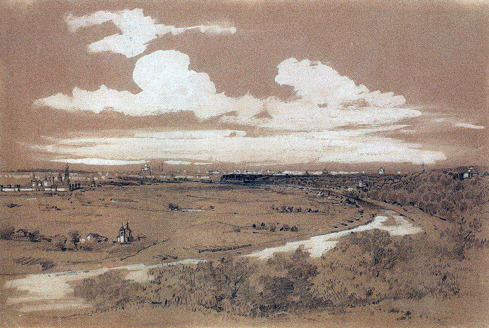 Вид Москвы с Воробьевых гор. 1850-е.jpg