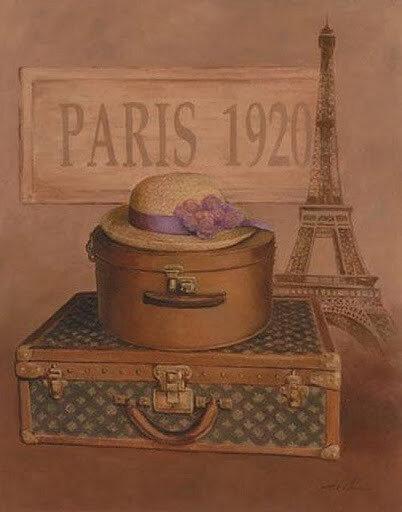 """Оригинал схемы вышивки  """"Paris 1920 """" ."""