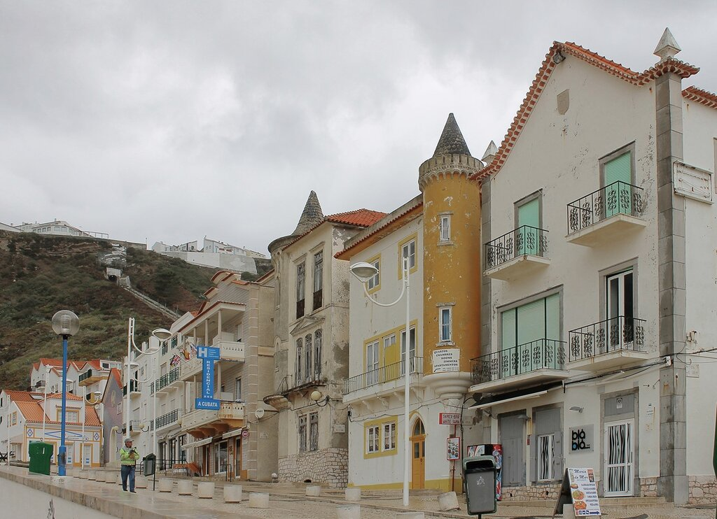 Portugal, Nazare. Португалия, Назаре