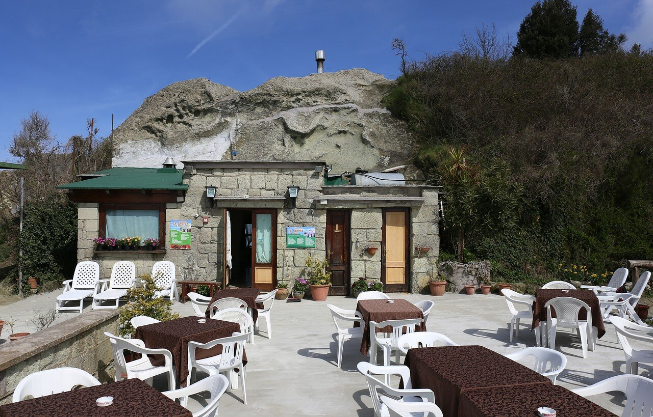 Ischia. The restaurant on top of Monte Epomeo